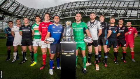 Players from all 12 teams at the 2016-2017 Pro12 launch at the Aviva Stadium on Tuesday