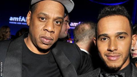 Lewis Hamilton and Jay Z