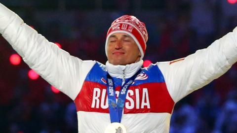 Maxim Vylegzhanin celebrates silver