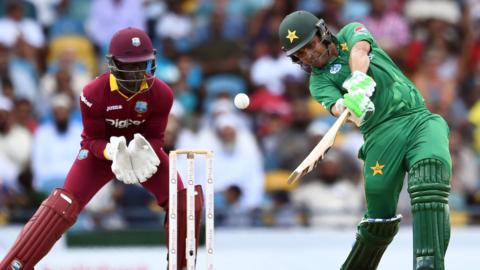 West Indies' Chadwick Walton and Pakistan's Kamran Akmal