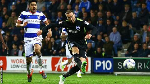 Glenn Murray scores Brighton's first goal