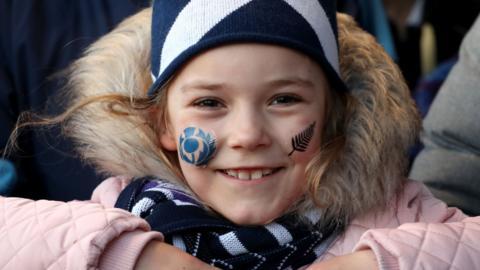 A young Scotland fan