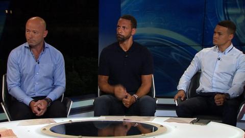 Alan Shearer, Rio Ferdinand, Jermaine Jenas