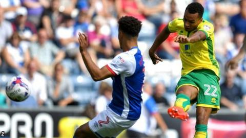 Norwich's Jacob Murphy fired the Canaries ahead at Ewood Park
