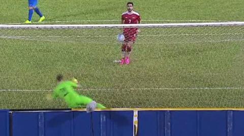 Omar Kharbin scores