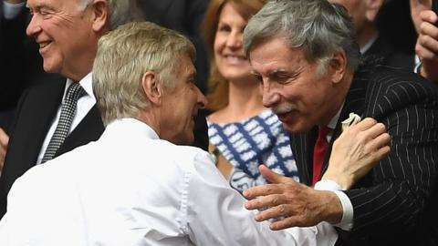 Arsene Wenger and Stan Kroenke at the FA Cup final