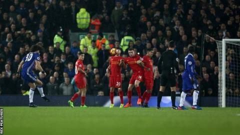 David Luiz scored his first Premier League goal for Chelsea since April 2013