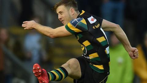 Sam Olver's boot provided 14 of Northampton Saints' point in their 19-13 Anglo-Welsh Cup win over Gloucester Rugby at Franklin's Gardens, 12 November 2016