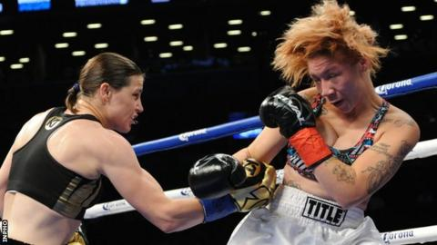 Katie Taylor claims easy win in USA debut
