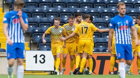 Morton caused an upset at Rugby Park