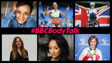 Graphic with six of the panellists for the Body Talk Q&A