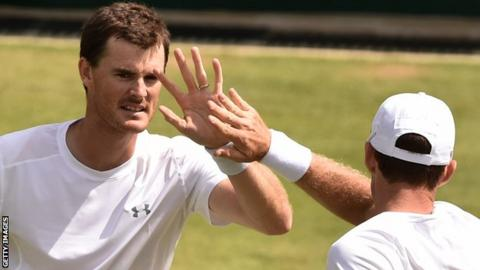Jamie Murray (left) has never made it this far in the men's doubles before