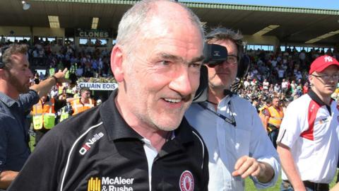 Mickey Harte guided Tyrone to All-Ireland SFC titles in 2003, 2005 and 2008