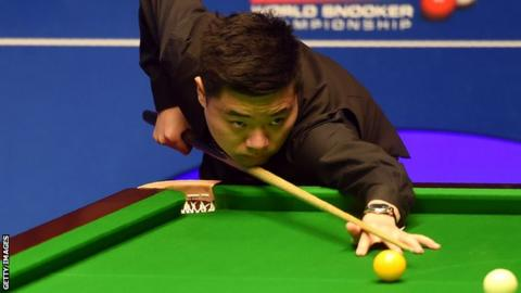 World Championship 2017: Ding Junhui leads 6-2 against Liang Wenbo