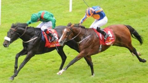 Harzand beats Idaho in the Irish Derby at the Curragh