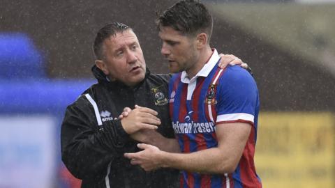 Inverness manager John Robertson and Iain Vigurs