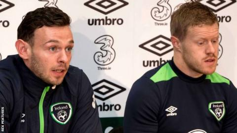 Andy Boyle and Daryl Horgan