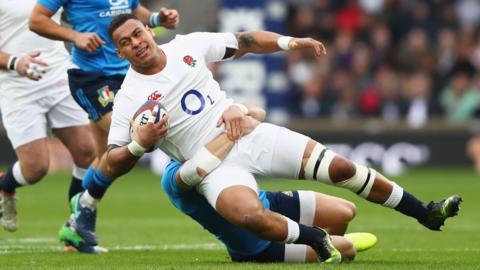 England's Nathan Hughes