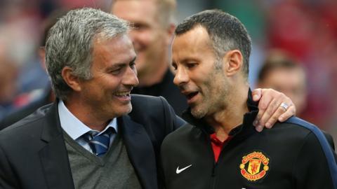 Jose Mourinho and Ryan Giggs