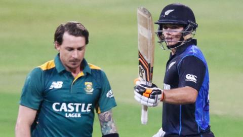 South Africa's Dale Steyn and New Zealand's Tom Latham