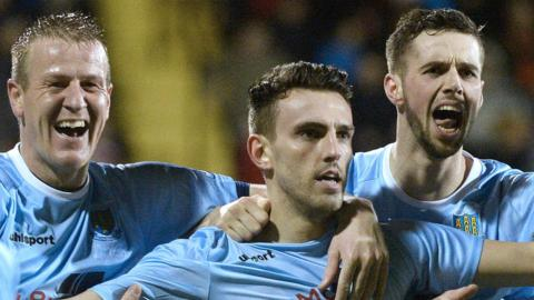Ballymena United won the League Cup for the first time