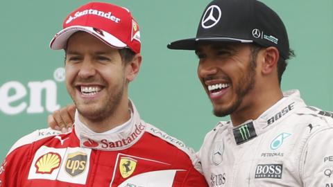 Lewis Hamilton and Sebastiann Vettel