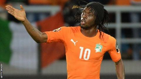 Ivory Coast winger Gervinho