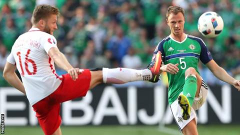 Jonny Evans was among Northern Ireland's better performers against Poland on Sunday