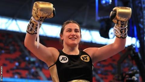 Broner vs Garcia: Katie Taylor produces stoppage victory on American debut