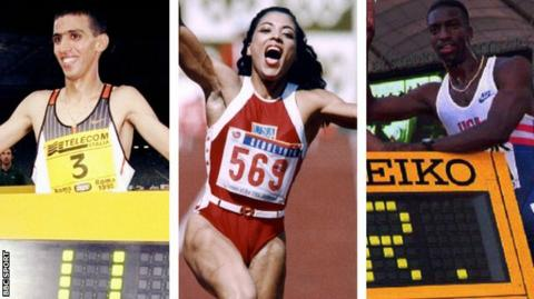 Hicham El Guerrouj, Florence Griffith-Joyner and Michael Johnson could lose their world records
