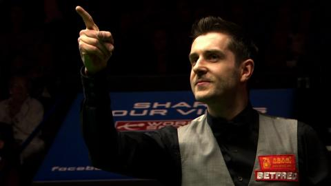 Mark Selby celebrates winning the 2016 World Snooker Championship