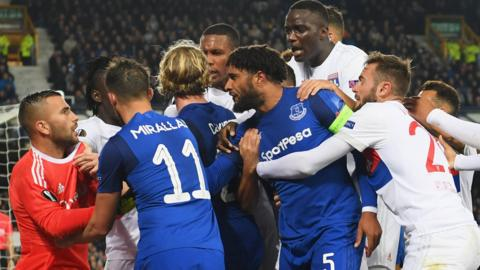Everton and Lyon