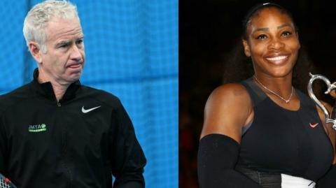 John McEnroe and Serena Williams