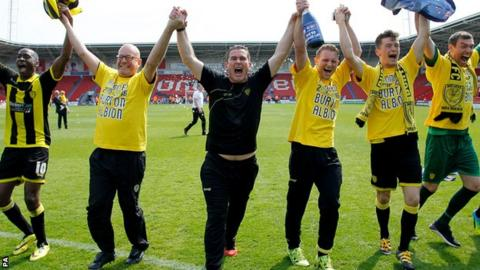 Nigel Clough: Burton Albion rise to Championship truly remarkable _89633375_burton1
