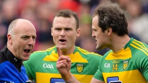 Donegal were unhappy with referee Cormac Reilly's decision to award Mayo a penalty