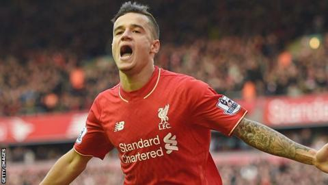 Coutinho left out of Liverpool squad for Champions League play-off