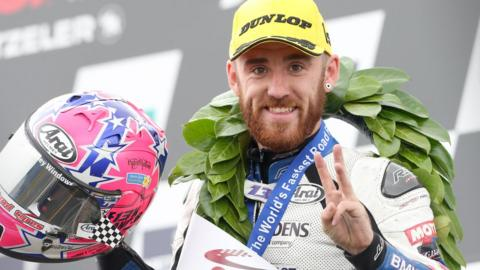 Fermanagh rider Lee Johnston enjoyed a treble at the Ulster Grand Prix road race meeting at Dundrod in August