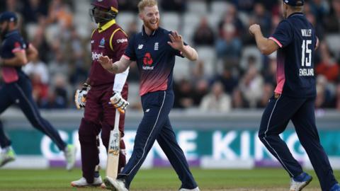 Ben Stokes celebrates wicket