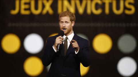 Prince Harry during the opening ceremony of the Invictus Games