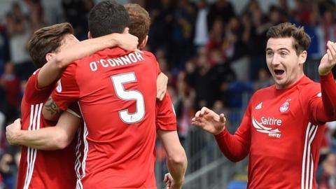 Aberdeen celebrate the equaliser
