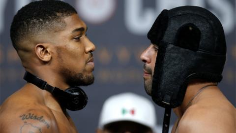 Anthony Joshua (left) and Eric Molina