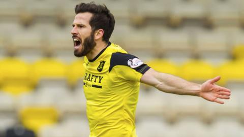 Liam Buchanan scored the third goal for Livingston at Meadowbank
