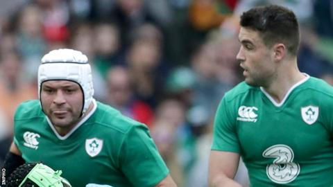 Rory Best and Conor Murray in action against Italy last year