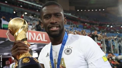 Antonio Rudiger helped Germany win the Confederations Cup in Russia