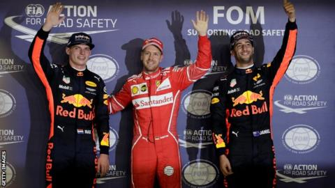 Lewis Hamilton capitalises on Sebastian Vettel's first-lap drama in Singapore