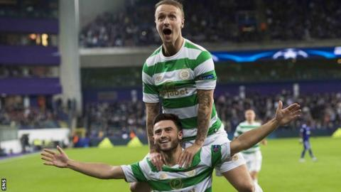 Celtic's Leigh Griffiths and Patrick Roberts