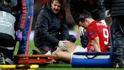 Zlatan Ibrahimovic receives treatment