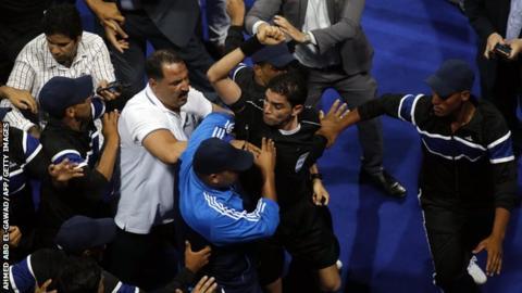 Egyptian referee Ibrahim Nour El-Din