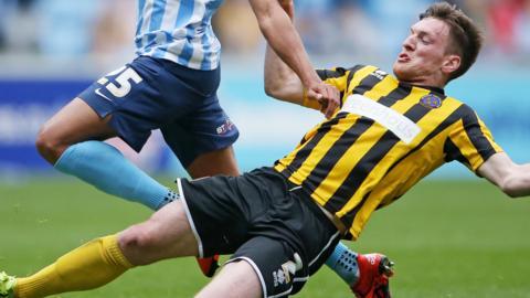 Shrewsbury Town defender Matt Tootle