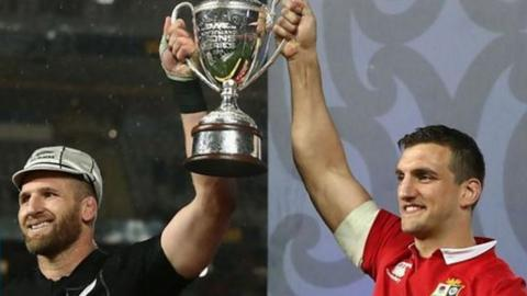 New Zealand and Lions captains